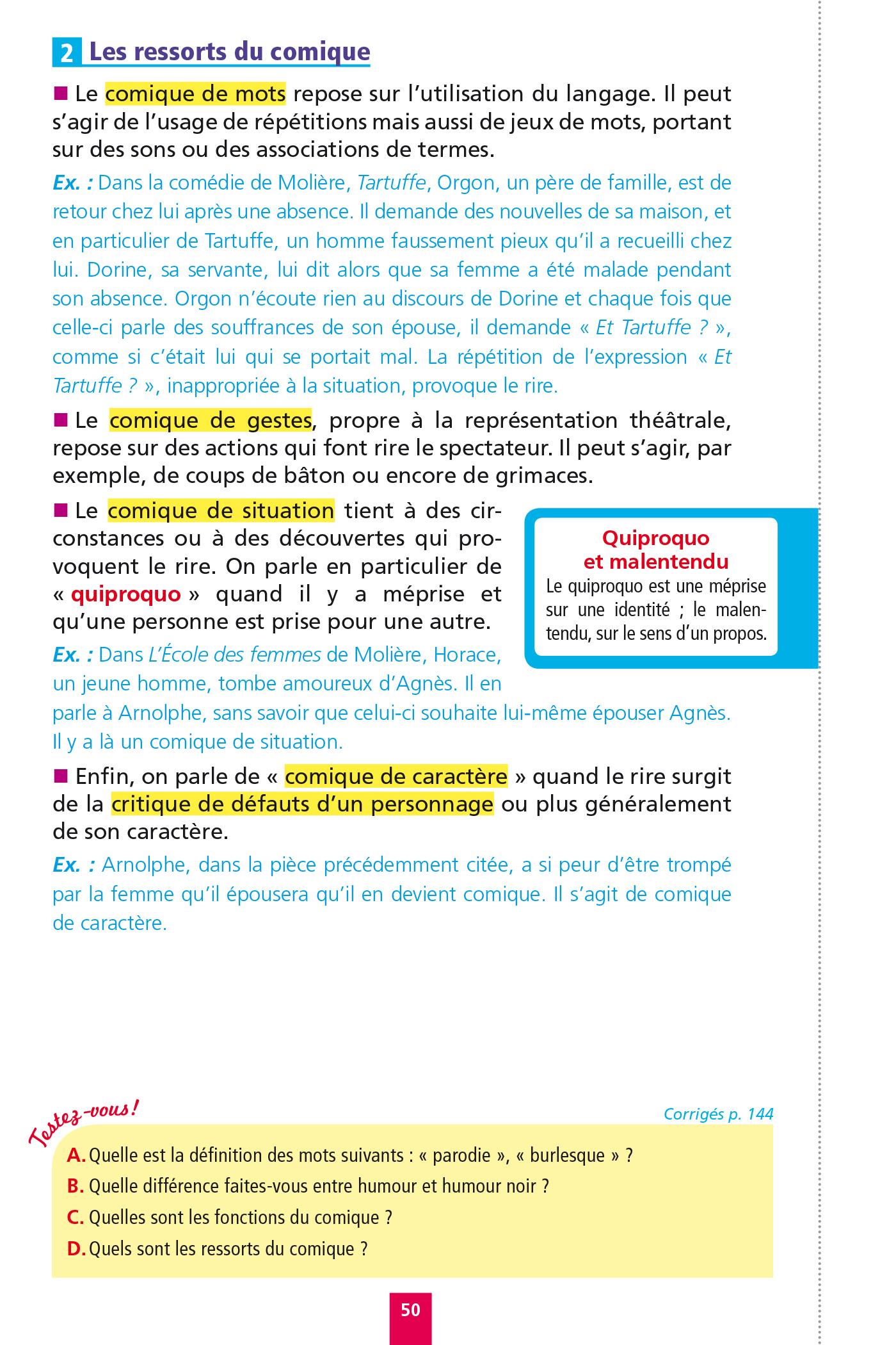 Objectif Bac Fiches détachables Français 2nde | Hachette ...