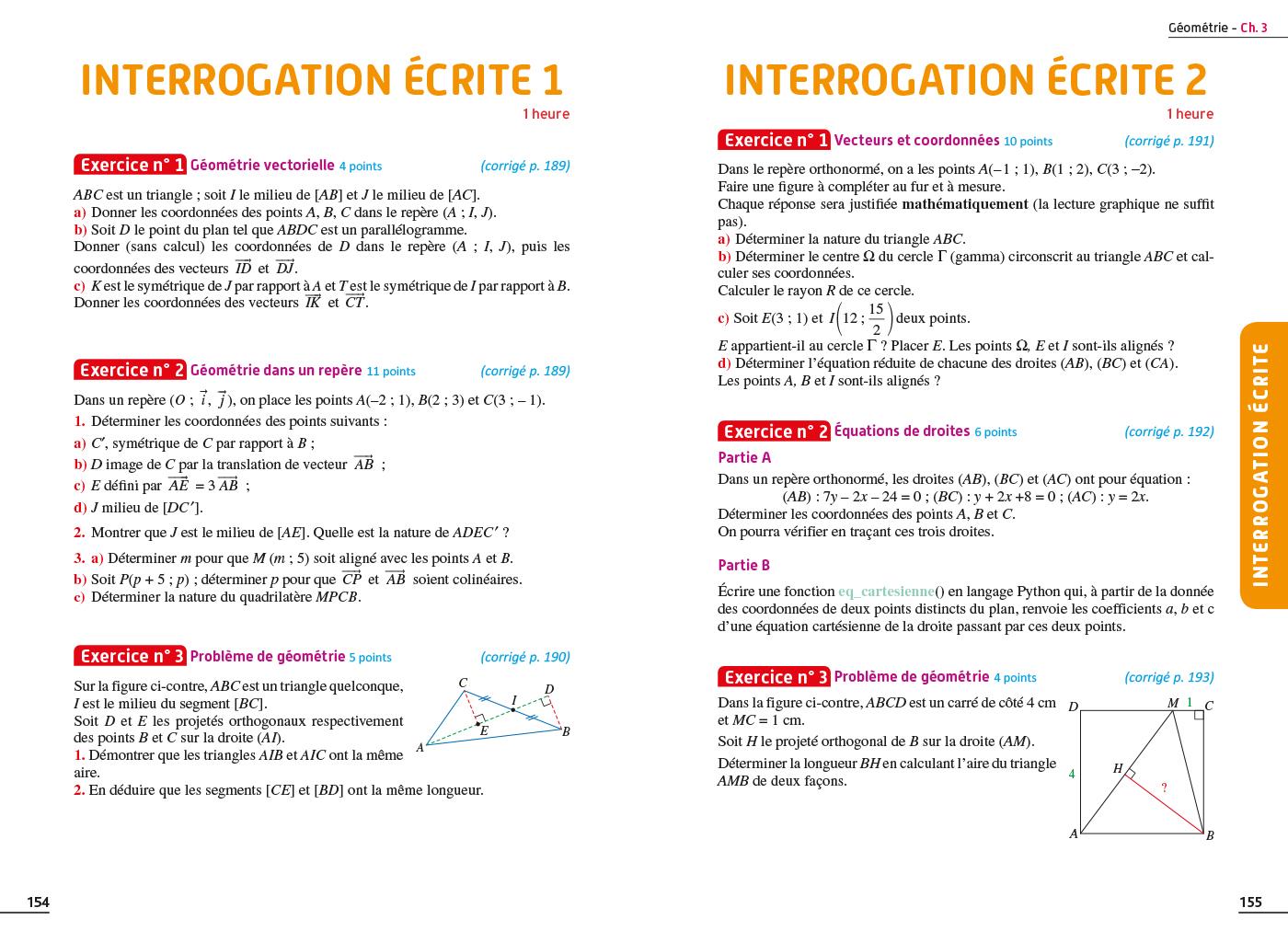 Exos Resolus Maths 2nde Hachette Education Famille Eleves Etudiants