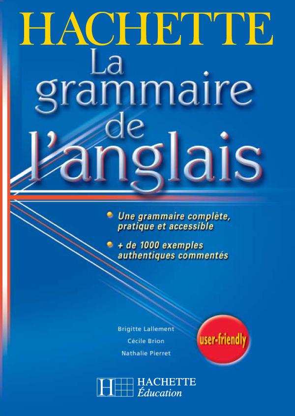 La grammaire de l'anglais