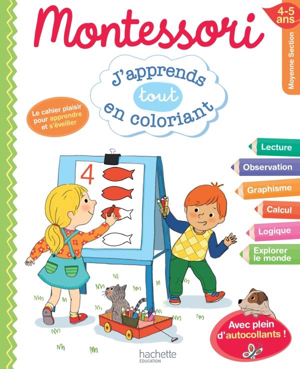 Montessori J'apprends tout en coloriant MS