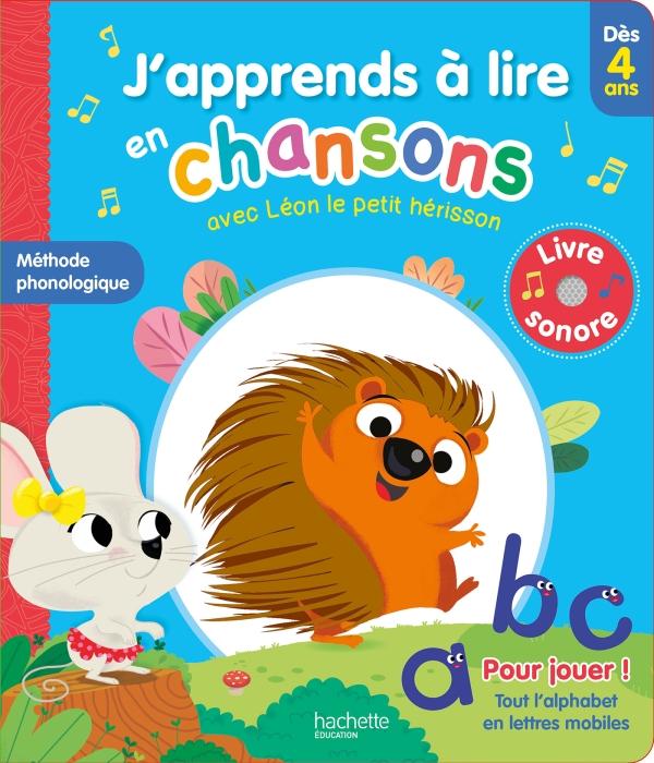 J'apprends à lire en chansons avec Léon le petit hérisson - Dès 4 ans (méthode lecture phonologique)