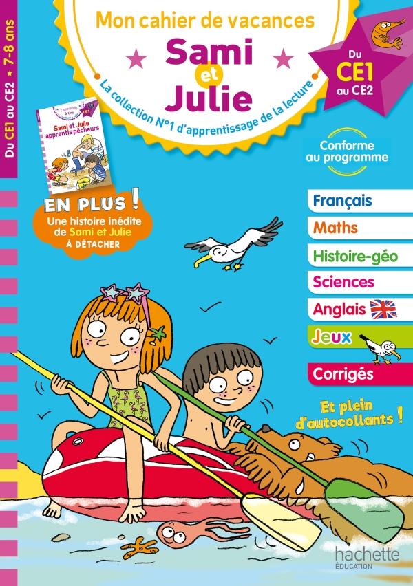 Cahier de vacances 2020 Sami et Julie Du CE1 au CE2