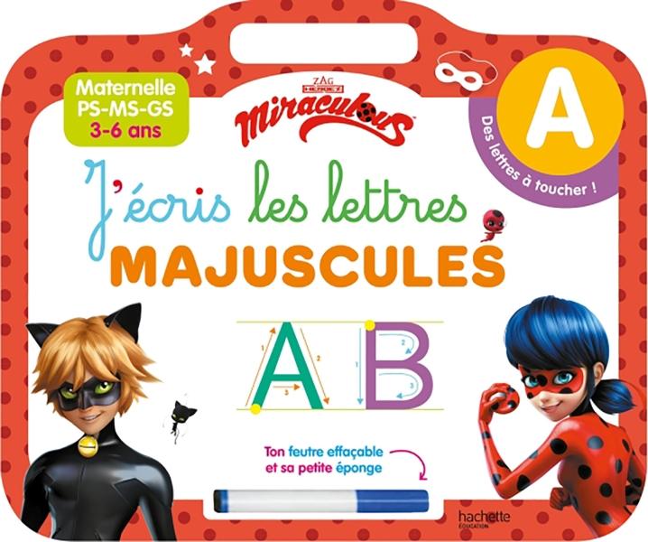 Ardoise Miraculous J'écris les lettres majuscules