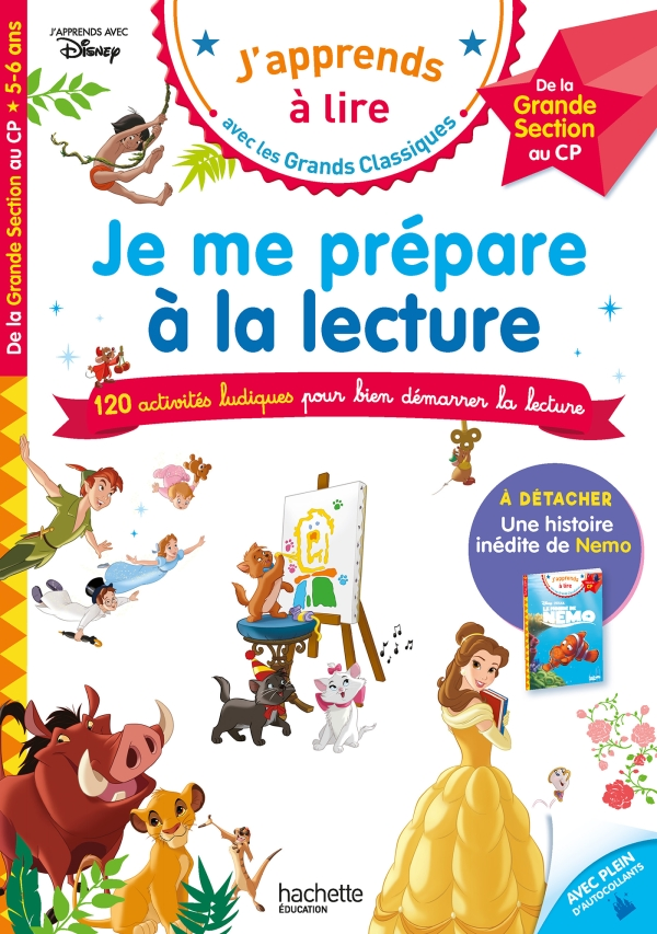 Disney - Je me prépare à la lecture avec les grands classiques Disney - Cahier de vacances 2021