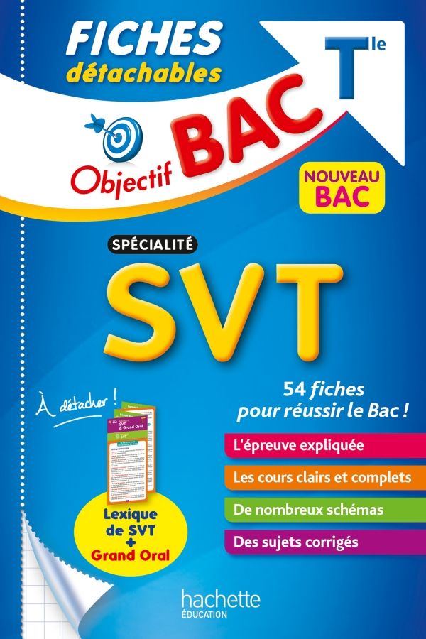 Objectif BAC Fiches détachables Spécialité SVT tle