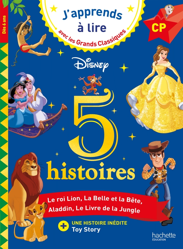 Disney - 5 histoires - CP niveaux 1, 2, 3