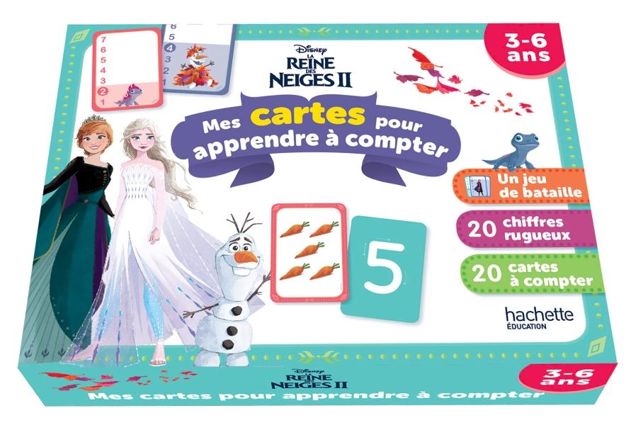 Disney - La Reine des neiges 2 - Mes cartes pour apprendre à compter