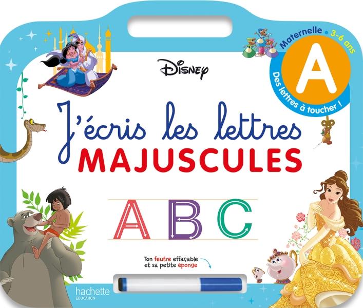 Disney - Les grands Classiques - Ardoise J'écris les lettres majuscules  (3-6 ans)