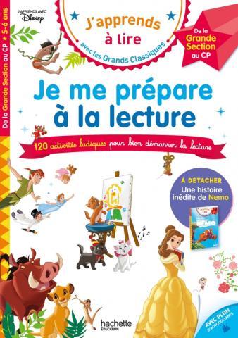 Disney - Je me prépare à la lecture avec les grands classiques Disney GS - CP dès 5 ans