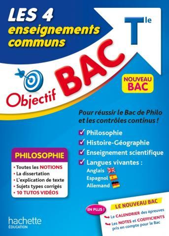 Objectif Bac - Les 4 Enseignements communs Terminale