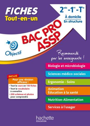 Objectif Bac Fiches BAC Pro (2nd-1re-Term) Biologie, SMS, Animation, Nutrition, Service à l'usager