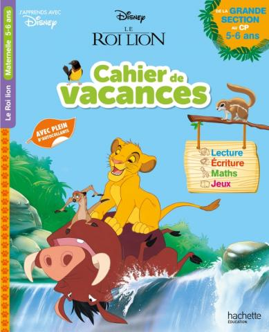 Disney Le Roi Lion - Cahier de vacances de la Grande Section au CP