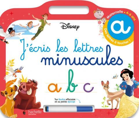 Disney - Les Grands Classiques- Ardoise J'écris les lettres minuscules  (4-6 ans)