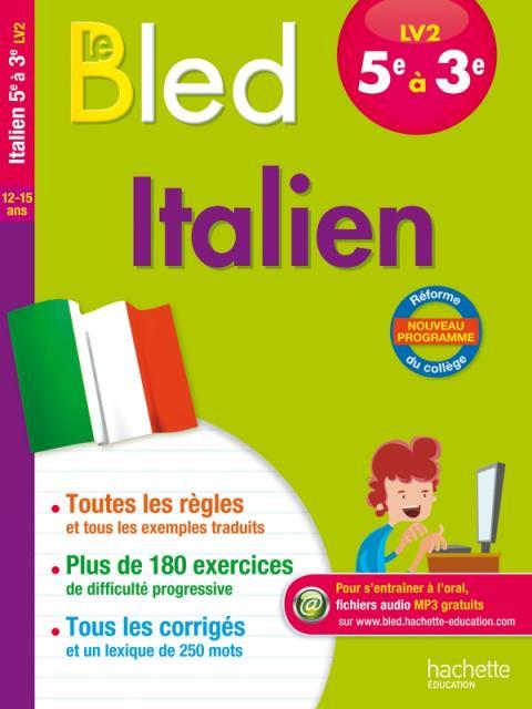Cahier Bled - Italien LV2 5e-4e-3e
