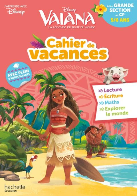 Disney - Vaiana - De la Grande Section au CP - Cahier de vacances 2021