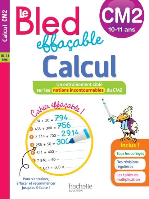 Bled effaçable Calcul CM2