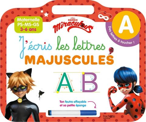 Miraculous - Ardoise J'écris les lettres majuscules