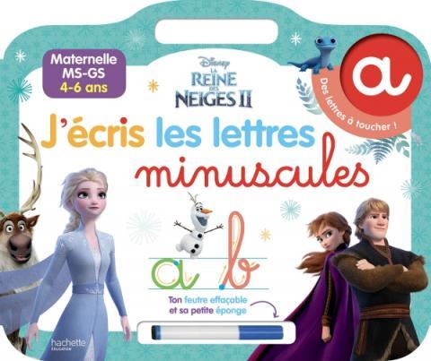 DISNEY REINE DES NEIGES 2 - J'écris les lettres minuscules (4-6 ans)