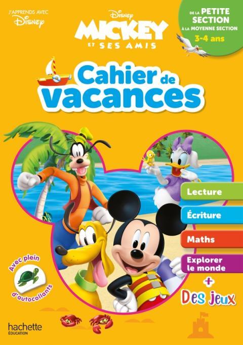 Disney - Mickey - Cahier de vacances 2020, de la petite section à la moyenne section