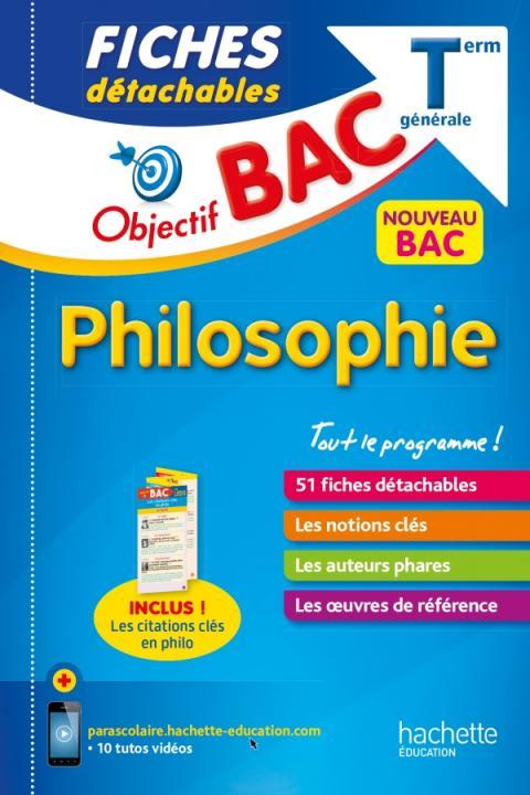 Objectif Bac Fiches détachables Philosophie Term