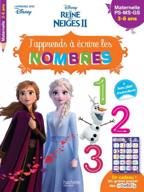 Disney - Reine des Neiges 2 - J'apprends à écrire les nombres PS - MS - GS (3-6 ans)