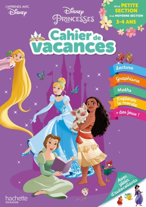 Disney - Princesses - De la Petite à la Moyenne Section - Cahier de vacances 2021