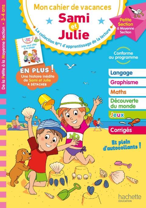 Cahier de vacances 2020 Sami et Julie De la PS à la MS