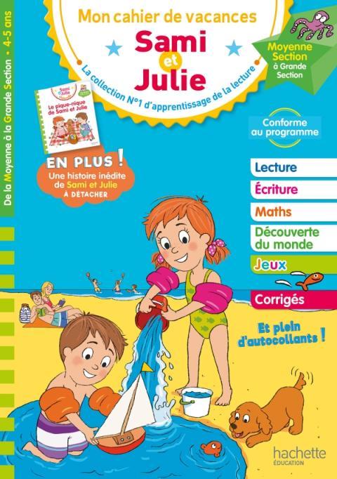 Cahier de vacances 2020 Sami et Julie De la MS à la GS