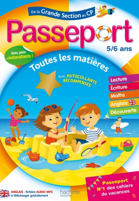 Passeport - de la Grande Section au CP - Cahier de vacances 2021