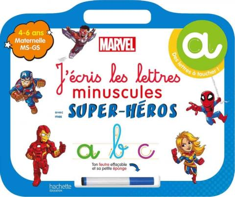 Disney - Mes super-héros Marvel - Ardoise J'écris les lettres minuscules  (4-6 ans)