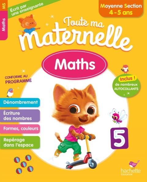 Toute Ma Maternelle - Maths Moyenne Section (4-5 ans)